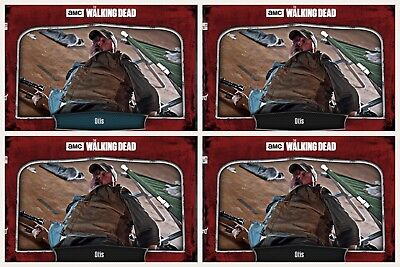4x Topps WALKING DEAD DIGITAL Card Trader RED ALERT WAVE 1 #2 OTIS BLUE +3 BLACK