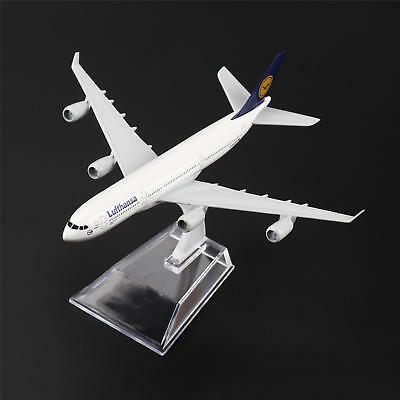 16cm Airbus340 Airlines A-340 Lufthansa Airlines Aircraft Plane Diecast Model