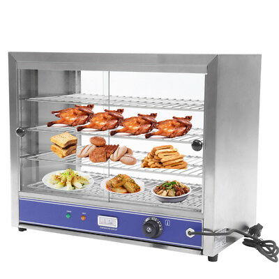 Commercial 4 Tier Food Pizza Pie Warmer Cabinet Display Hot Case Showcase