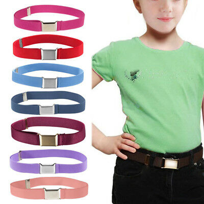 Children Boy Kids Buckle Belt Adjustable Buckle Belts Canvas Waistband Elastic