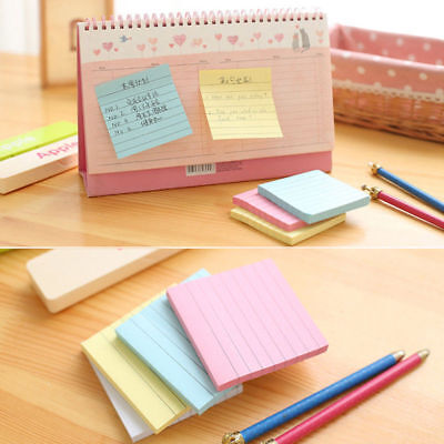 1pcs Sticky Notes Notebook Memo Pad Bookmark Paper Sticker Notepad Stationery