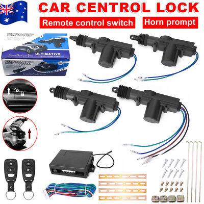 4 Door Remote Control Car Keyless Entry Central Lock Locking Kit Security System