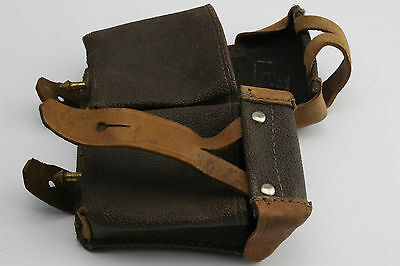 Soviet Russian USSR Leather Ammo Pouch - Mosin Nagant