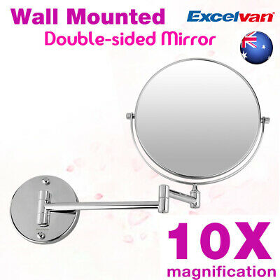 Wall Mounted LED Lighted Bathroom Mirror 10X Magnifying Makeup Shaving Vanity AU