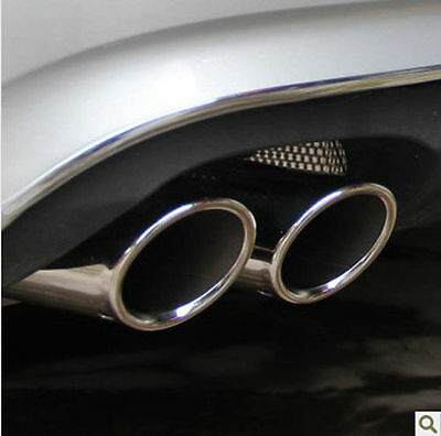 CHROME EXHAUST TIPS MUFFLER TAILPIPE for MERCEDES C CLASS W204 C200 C180 CDI CGI