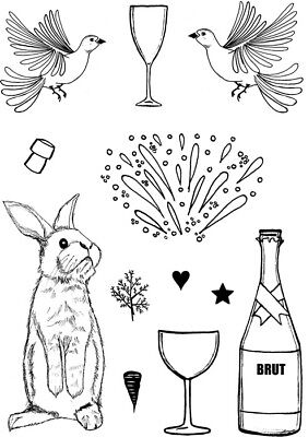 CARD-IO A6 COMBINATIONS COLLECTION Clear Stamps CELEBRATIONS CCSTCEL-02 12 Stamp