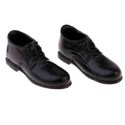 1/6 Scale Male Black Leather Shoes for 12'' Phicen Kumik Action Figure Body