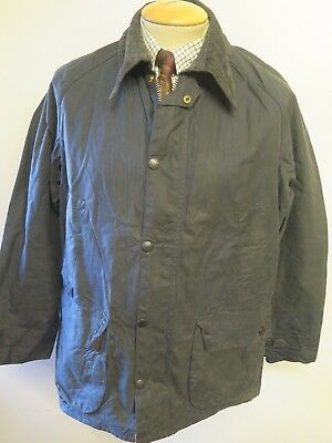 """Vintage Barbour A105 Bedale Waxed jacket - M 40"""" Euro 50 in Blue"""