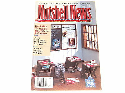 #2378 1995 February  Nutshell News Minatures Magazine For Creators & Collectors