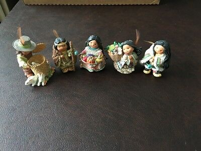 Enesco Friends Of The Feather Figurines - Lot Of 5