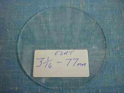 """Old Round Flat Clock Glass  3 1/16"""" Rough Edge. Used."""