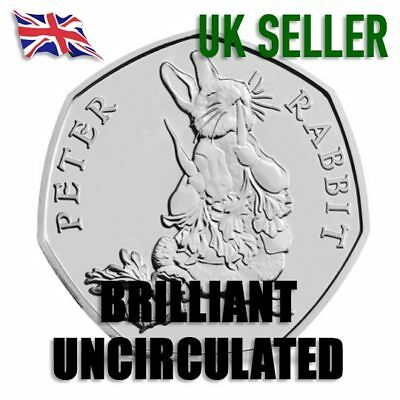 New Sealed 2018 Beatrix Potter Peter Rabbit 50p BU BUNC Brilliant Uncirculated
