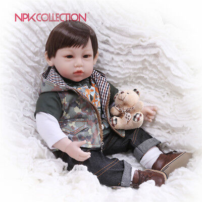 Npk Reborn Toddler Boy 22 Inch Real Looking Bebe Silicone Doll Weighted Body Toy