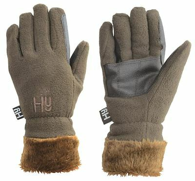 Hy5 Fur Lined Fleece Gloves Chocolate Colour Size XS-XL 3470P