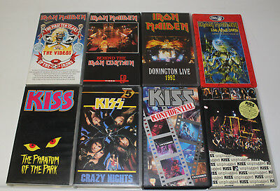 Iron Maiden & KISS * Videos Konzert Live unplugged * VHS inkl. Sicherung auf DVD