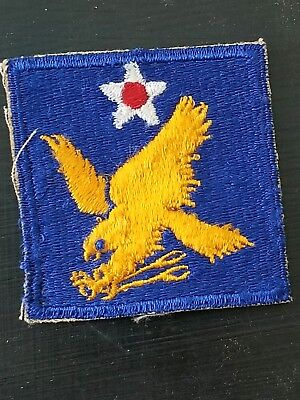 WWII US Army 2nd AAC Air Corps Cut Edge Shoulder patch