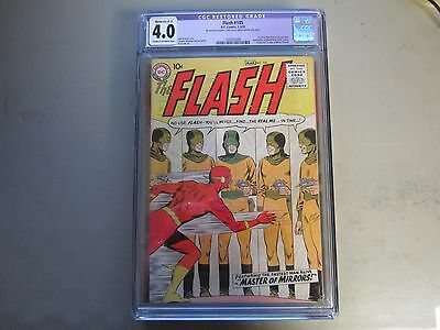 The Flash #105 CGC 4.0 Comic Book 1959  1st APPEARANCE MIRROR MASTER  KEY