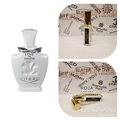 Creed Love In White 17ml Extract Based Decante Eau De Parfum Spray
