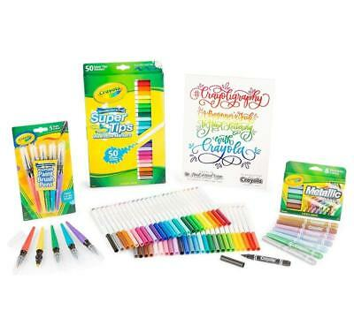 Crayola Crayoligraphy Calligraphy Kit, Hand Lettering For Beginners, Gift, 60+ P
