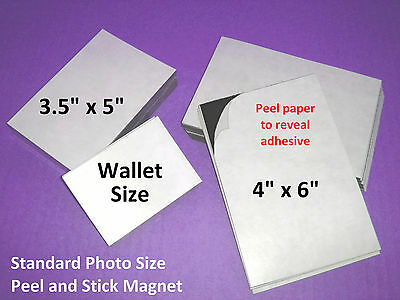 10 Self Adhesive US Magnetic Sheets Fit Wallet 2.5x3.5 ACEO cards - Ships FREE