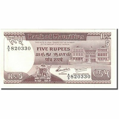 [#593925] Banknote, Mauritius, 5 Rupees, 1985, KM:34, UNC(65-70)