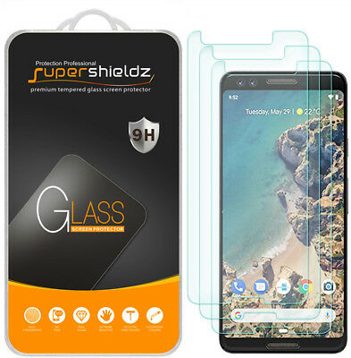 3X Supershieldz Tempered Glass Screen Protector Saver for Google (Pixel 3)