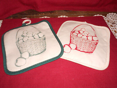 Longaberger 2 POT HOLDERS!  NEW!  HOMESTEAD!  OHIO!   BUY IT NOW!   L@@K!