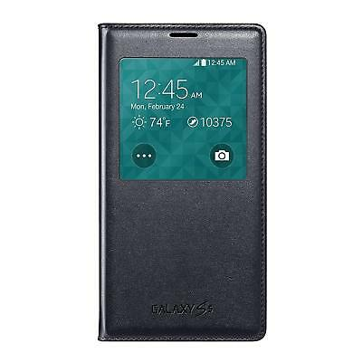 OEM - Samsung S-View Flip Cover/Case for Samsung Galaxy S5 - Black