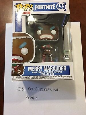 Fortnite Merry Marauder Funko Pop #433 Figure  New NIB IN HAND FREE SHIPPING!