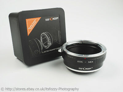 K&F Concept EOS to NEX Adapter Canon EF to Sony NEX (E-Mount) Adapter