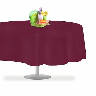 """Grandipity Berry 12 Pack Premium Disposable Plastic Tablecloth 84"""" Inch Round..."""