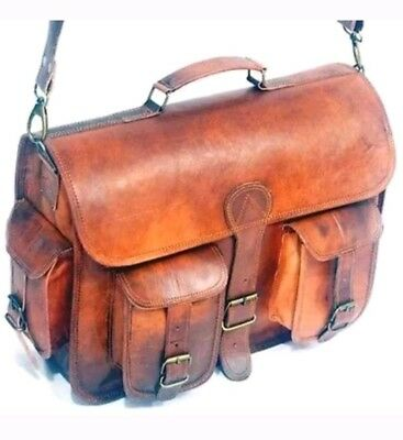 Handmadecart Leather Messenger Bags for Men and Women Laptop 15 Inch Briefcase