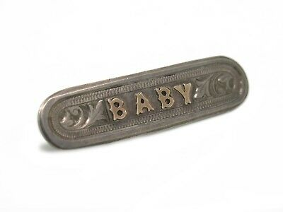 Sterling Silver Victorian Baby Bar Pin