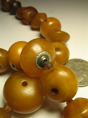 "RARE Outstanding Antique Mauritanian Matched ""Amber"" Bead Necklace 24"""