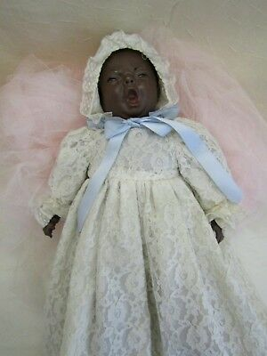 "RARE Vintage 1978 Shotzee Doll African American Black Crying Baby 16"" Soft Body"