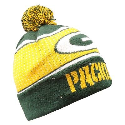 bad1916649d Green Bay Packers Big Logo Light Up Beanie Winter Hat Toque Cuffed Pom 2018  Knit