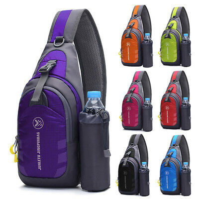 Men Women Hiking Sling Crossbody Chest Bag Sports Shoulder Waterproof Backpack