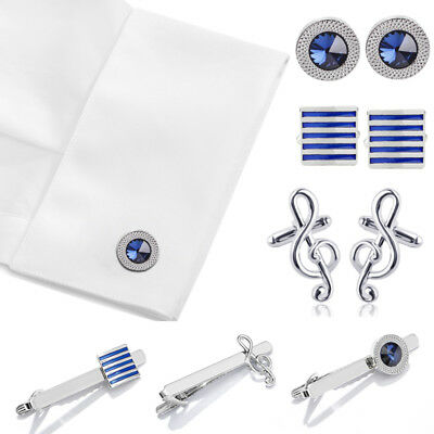 Men's Cufflinks Tie Clip Tie Claps Formal Suit Shirt Cuff Wedding Business New