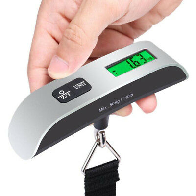 50kg Digital Travel Weighing Luggage Scales Handheld Electronic For Bag NEW -AN8