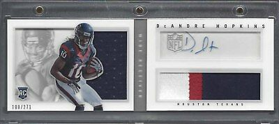 Deandre Hopkins 2013 Panini Playbook Jumbo 3 Color Patch Auto Book Rc #D 100/271