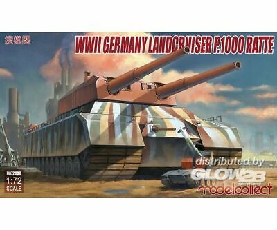 Modelcollect UA72088 WWII German Landcruiser P.1000 ratte in 1:72