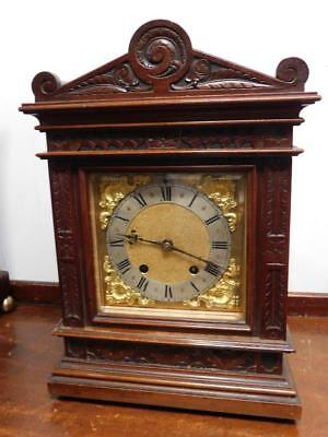 walnut cased 1/4 striking bracket clock by rsm germany