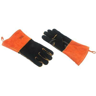 Outdoor BBQ Gloves Camping Fire Leather High Thick Welding Protective Gloves