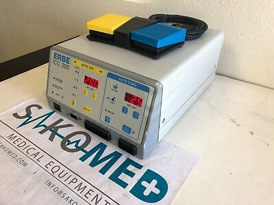 ERBE ICC 200 Electrosurgical Unit with foot switch/TESTED