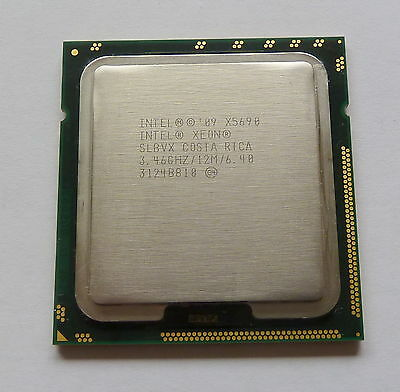 Matched Intel Xeon X5690 3.46GHz 6.4GT/s 12MB 6 Core 1333GHz SLBVX CPU