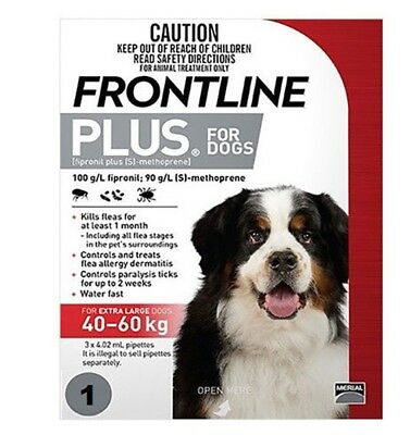 Frontline Plus for Dogs 40-60Kg Single Dose