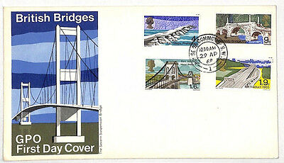 AL157 1968 GB FDC British Bridges *HOUSE OF COMMONS* CDS First Day Cover