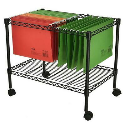 """Single Tier Metal Rolling Mobile File Cart 23.6 x 12.6 x 18"""" Office Supplies"""