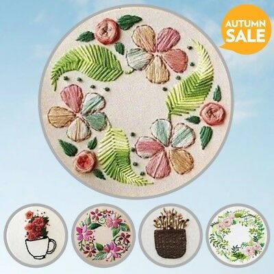 DIY Ribbon Embroidery for Beginner Needlework Kits Cross Stitch Handmade Crafts