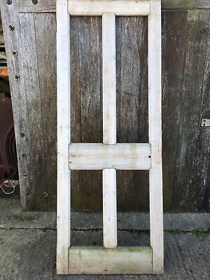 "29 3/4""x77 1/4"" Reclaimed Ex-glazed 1930s Stripped Pine Four Panel Internal Door"